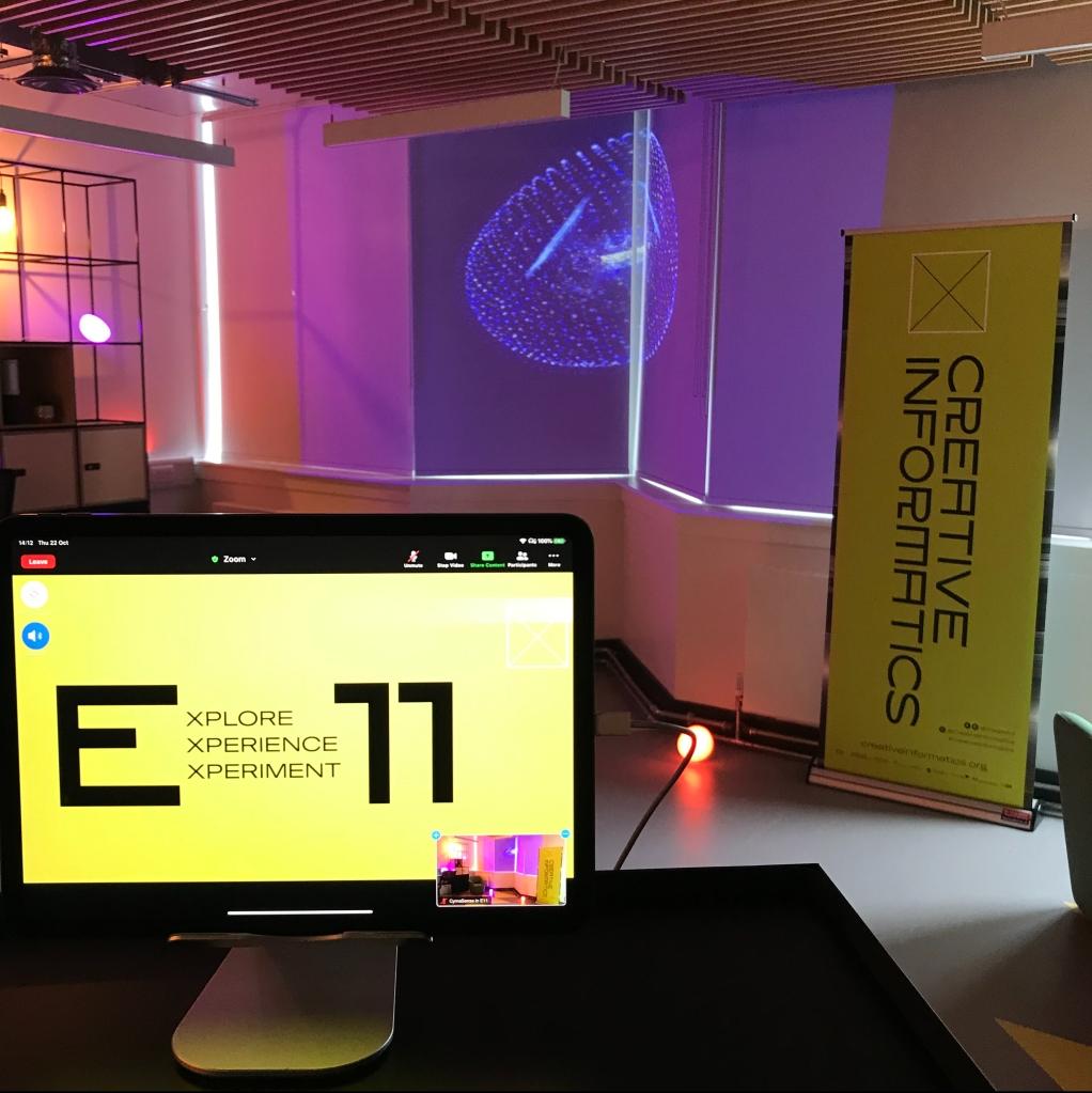 computer screen in room